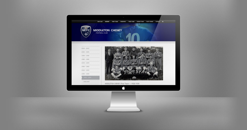 Middleton Cheney FC Website Design
