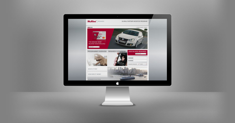 McAfee Rewards Website Design