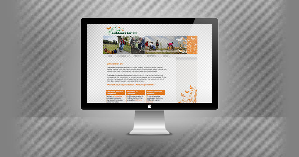 Outdoors for All Website Design