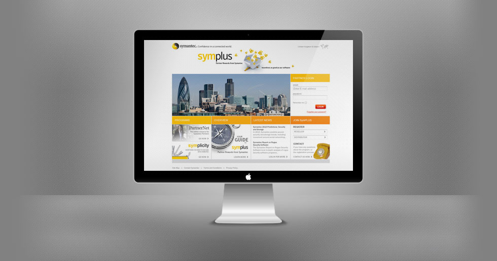 Symplus - Symantec Rewards Website Design