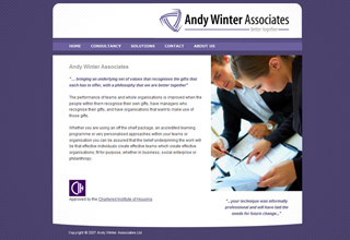 Andy Winter Associates Website Design