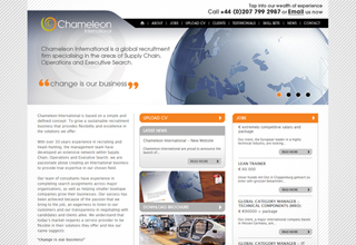 Chameleon International Website Design