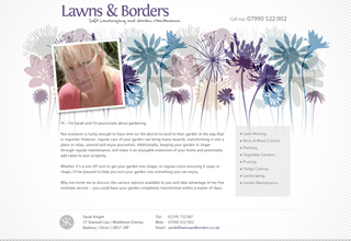 Lawns & Borders Website Design