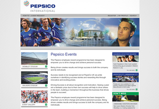 Pepsico Events Website Design
