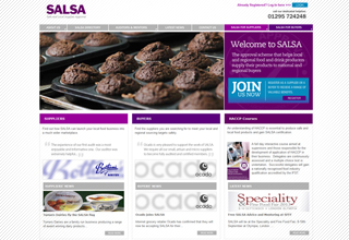 SALSA Website Design