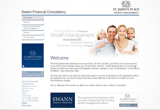 Swann Financial Website Design