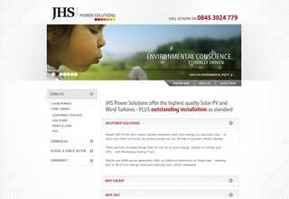 JHS Solar Solutions Website Design