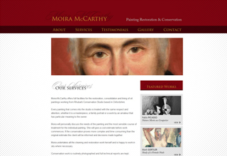 Moira McCarthy Website Design