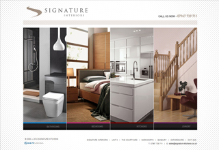 Signature Interiors Website Design