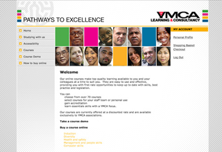 YMCA Online Learning Website Design