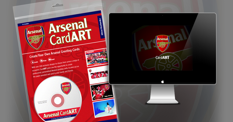 Arsenal Card Art Design